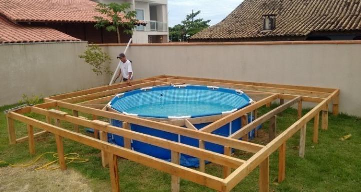 Подиум для каркасного бассейна своими руками: пошаговая инструкция + фото