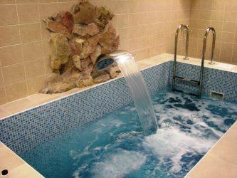 Бассейн в ванной комнате своими руками