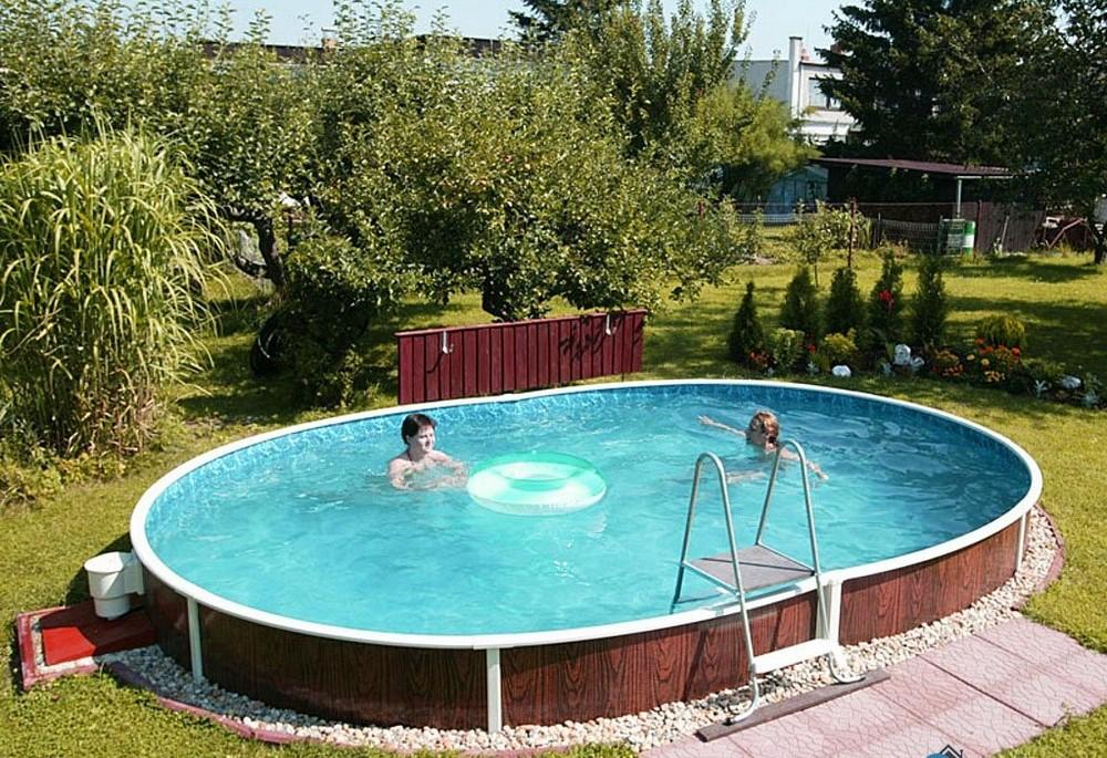 Пример стационарного каркаса бассейна