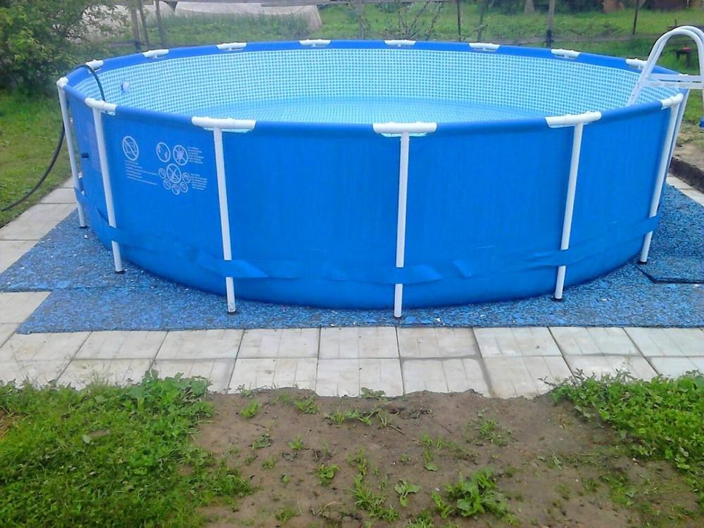 Пример стержневого каркаса бассейна