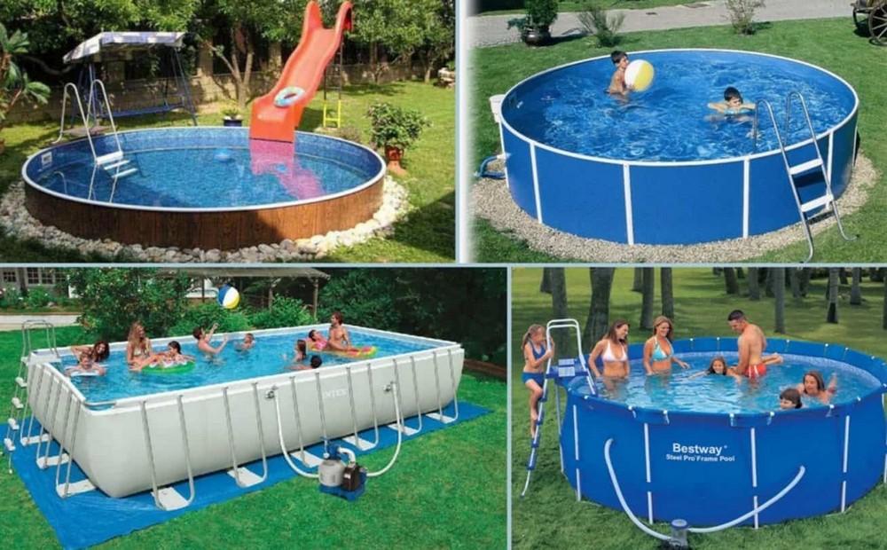 Полная комплектация позволит легко установить бассейн, а затем вдоволь насладиться плаванием в нем
