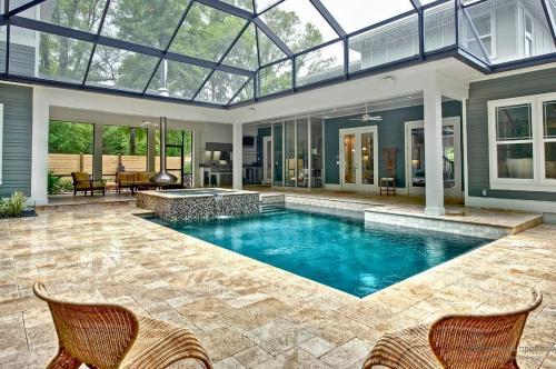 Каркасный бассейн в доме. Самый распространенный вариант