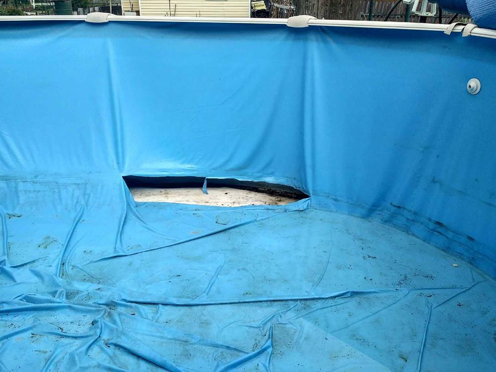 ремонт каркасного бассейна