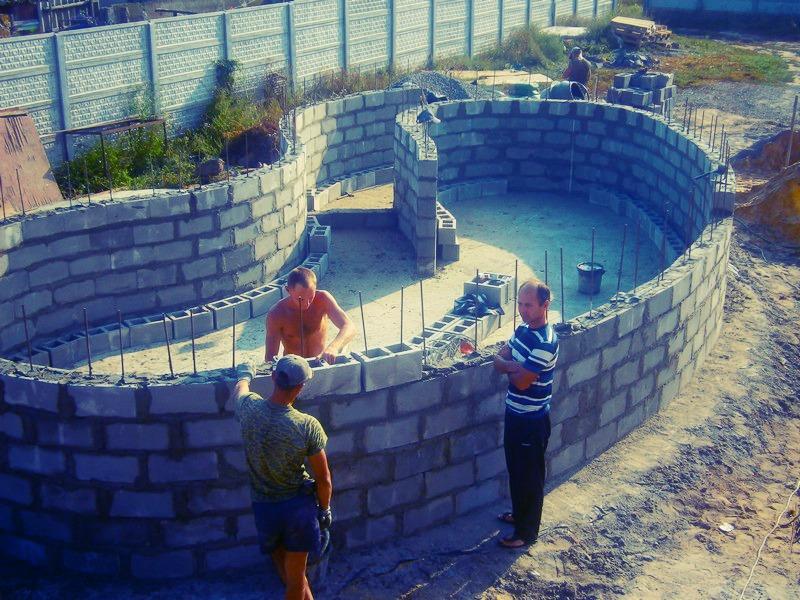 Фото бассейна из кирпичей