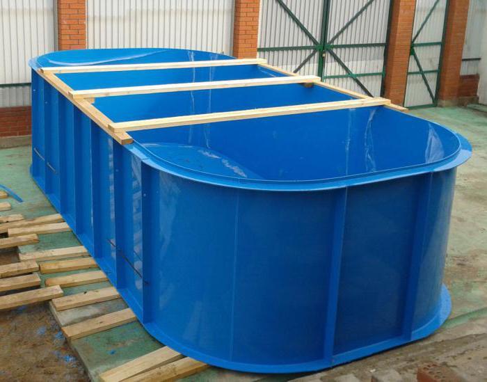 бассейн из полипропилена своими руками на даче