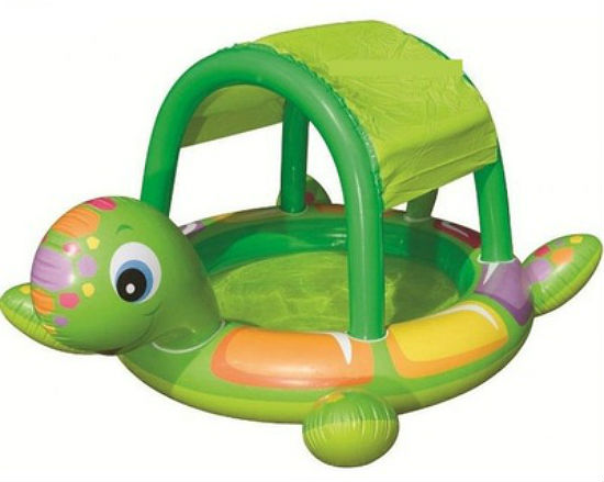 Надувной детский бассейн с навесом