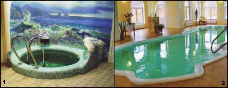 Плавателньый и гидромассажный бассейн спа