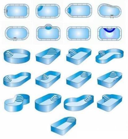 Формы полипропиленовых бассейнов