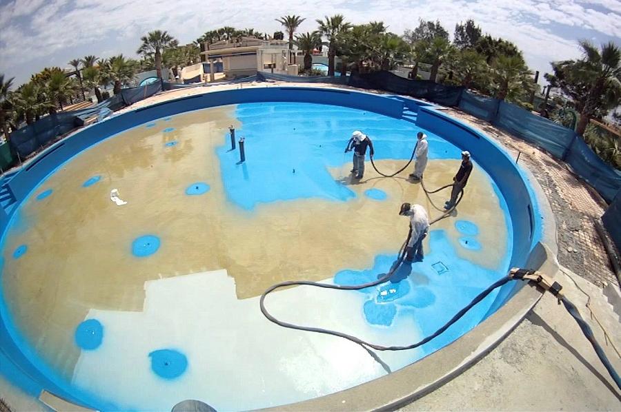 Гидроизоляция бетонных бассейнов в Москве