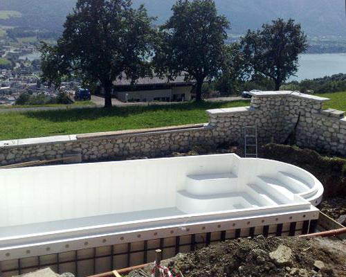 изготовление бассейна из полипропилена