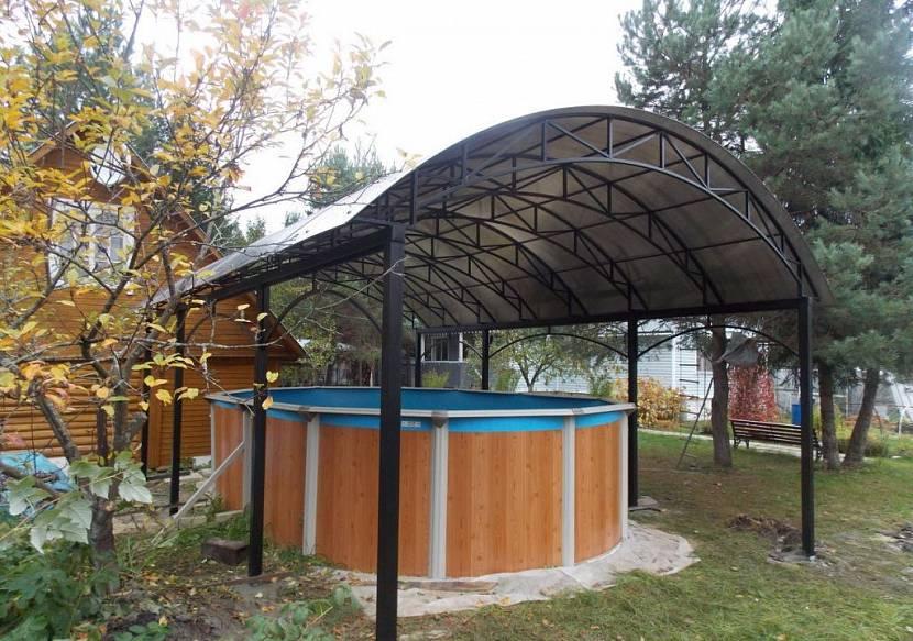 сдвижная крыша на бассейн