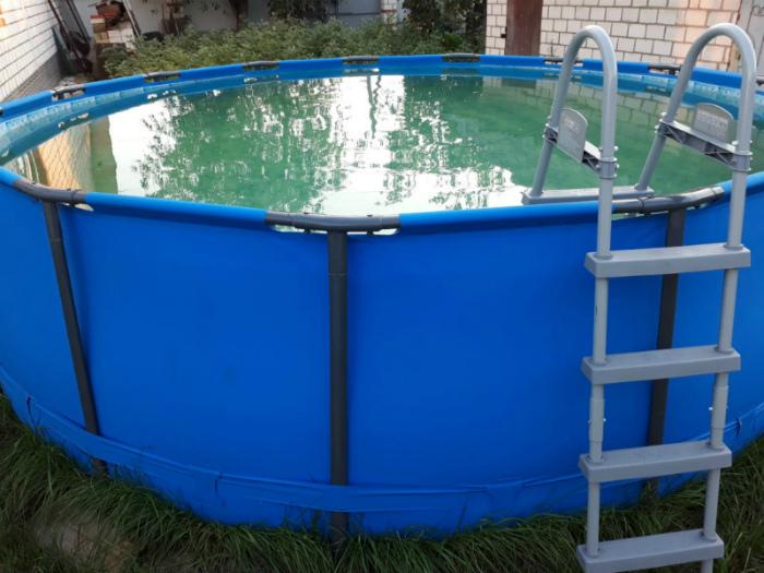 Каркасный бассейн стержневой конструкции