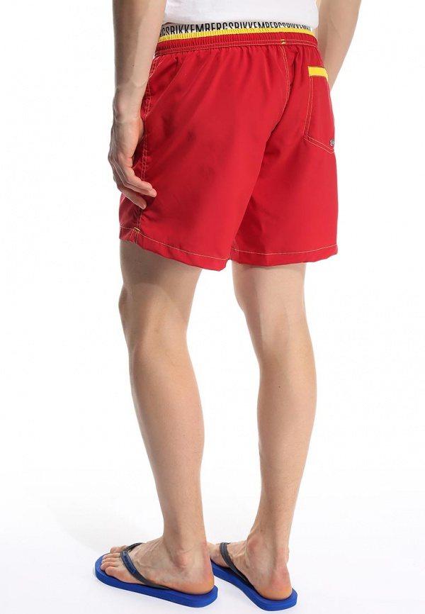 красные шорты бренда Bikkembergs