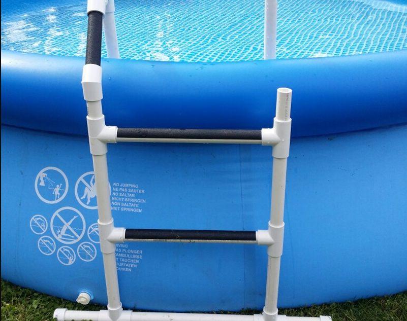 Лестница из пластиковых труб