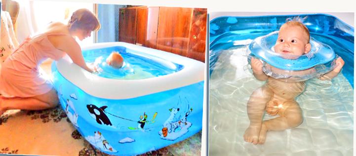 надувной бассейн в квартире