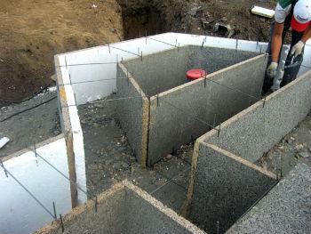 Использование арболитовых блоков для сборки несъемной опалубки фундаментных подошв