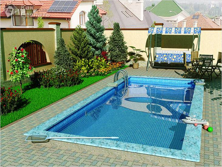 Оформление бассейна и зоны отдыха