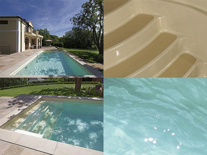 Композитный бассейн RivieraPool цвет песочный