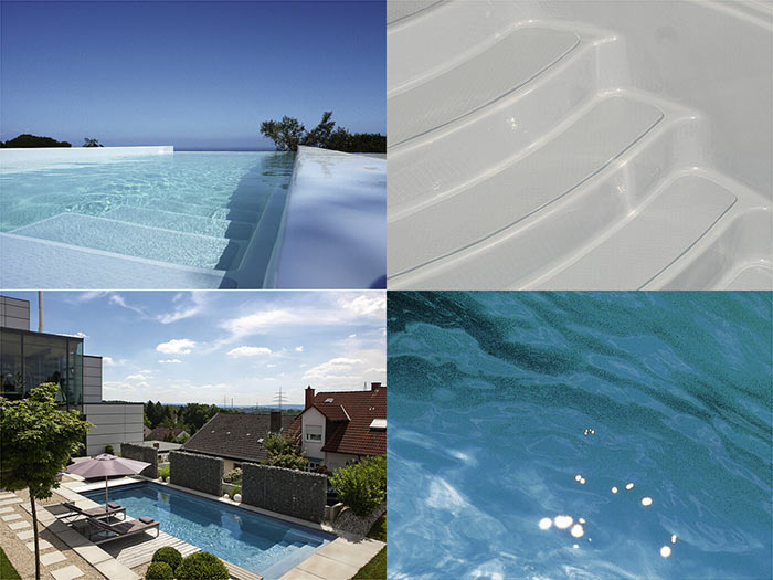 Композитный бассейн RivieraPool цвет серебристо-серый