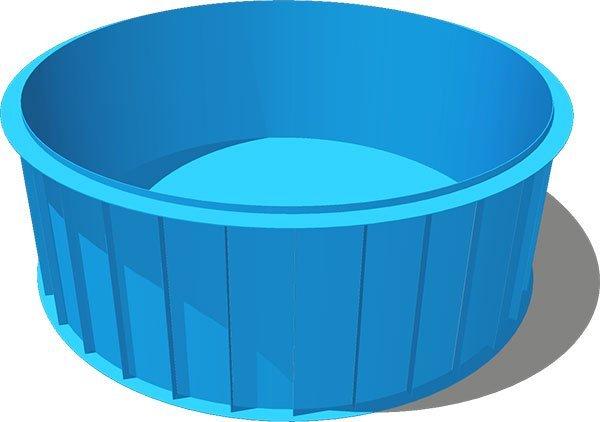 Круглая чаша бассейна