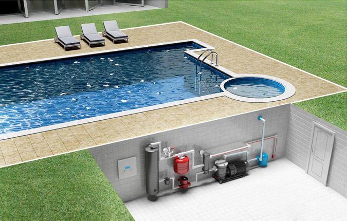 Насосная установка для бассейна.