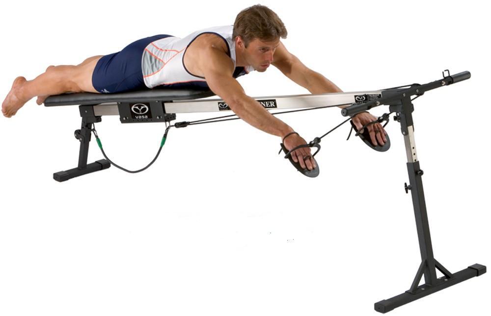 Плавательный тренажер Vasa Trainer Pro SE для подготовки пловцов применяет систему нагружения с использованием веса тренирующегося