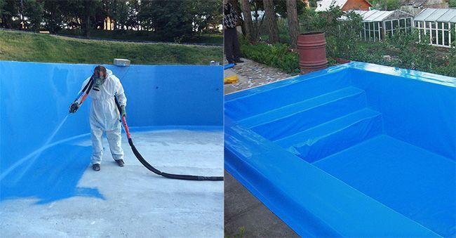 Внутренняя гидроизоляция бассейна является важным этапом