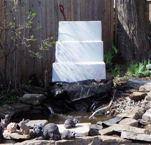 Основа для садового водопада